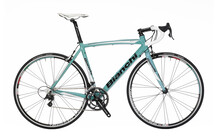 Bianchi Via Nirone Racefiets alu, xenon groen/zwart